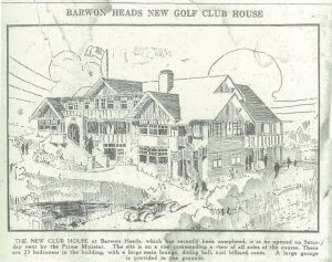 The Melbourne Herald gave its readers an idea of what was being build by the Barwon Heads Golf Club