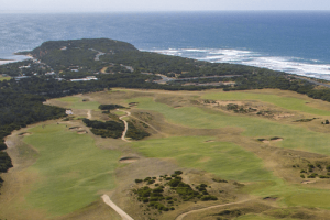 Aerial View Barwon Heads Golf Summer front 6 holes