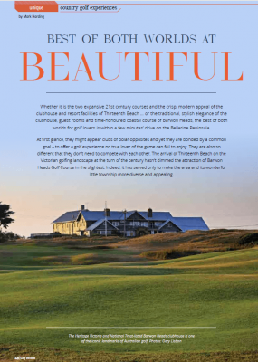 Golf Victoria magazine article about golf in Barwon Heads