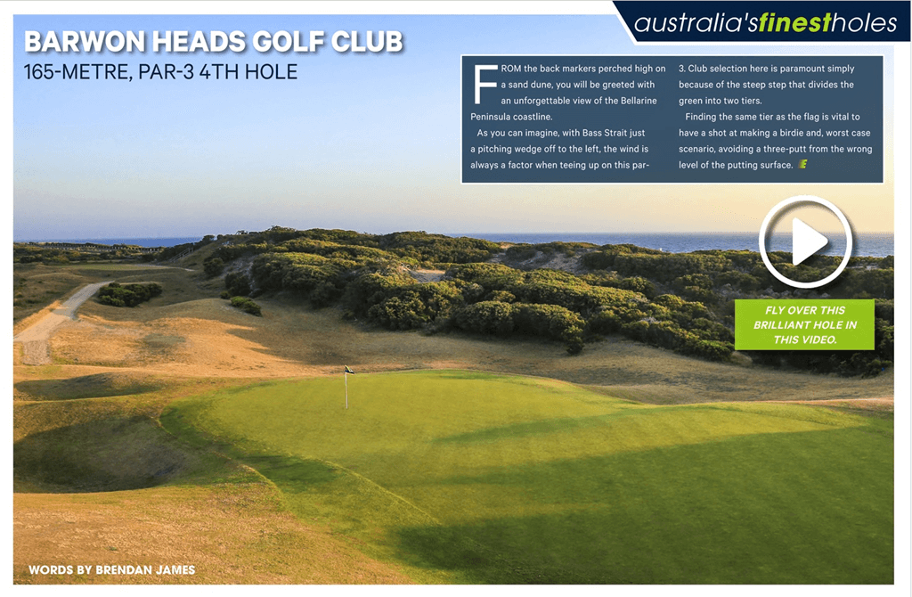 Australia's FInest Golf Holes Golf Australia Magazine 4th Barwon Heads Golf Club